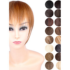 Ty.hermenlisa Clip in Hair Bang Synthetic Heat Resistant Fiber Fringe Hair Extensions Hairpieces,1 Pc,25g