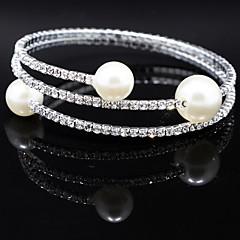 Bracciali Per donna Filo / Tennis / Braccialetti Rotondi Argento / Perle finte Perle finte