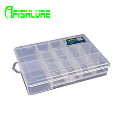 afishlure kalastusvälineet laatikot 14 verkkojen terä uistin laatikko vedenpitävä 1 tarjotin 18.5cm * 13cm * 3.5cm kovaa muovia