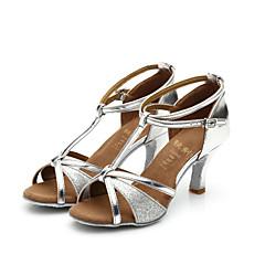 Women's Girl's Sandals Salsa / Samba/Latin Dance Shoes Satin / Sparkling Glitter Customized Heel (More Color)