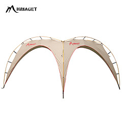 HIMAGET >8 persons Tent Tent Tarps Triple Family Camping Tents One Room Camping Tent 2000-3000 mm Aluminium OxfordMoistureproof/Moisture