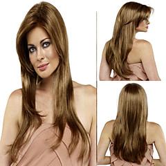 capless longo cor loira peruca sintética estrondo lado