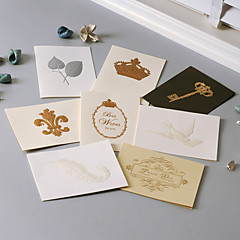 Non-personalized Side Fold Wedding Invitations Greeting Cards / Thank You Cards-1 Piece/Set Vintage Style Hard Card Paper