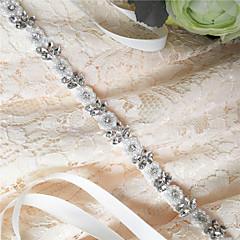 Satin Mariage / Fête/Soirée / Quotidien Ceinture-Paillettes / Billes / Appliques / Perles / Strass Femme 250cmPaillettes / Billes /