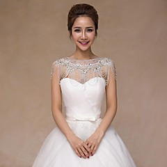 Wedding Sequined Collars Sleeveless Wedding  Wraps
