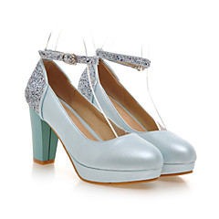 Women's Shoes Leatherette Chunky Heel Heels / Platform / Round Toe Heels Wedding / Party & Evening / Dress