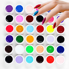 36pcs losweken mixs pure effen kleur uv kleur gel fototherapie lijm nagels qq barbie nagel (8 ml)