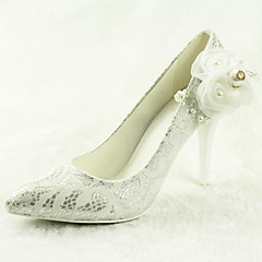 Women's Wedding Shoes Heels / Pointed Toe Heels Wedding / Dress Silver