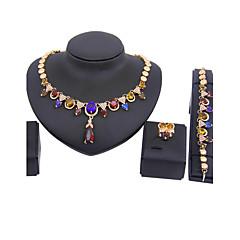 Conjunto de jóias Mulheres Aniversário / Casamento / Noivado / Presente / Festa Conjuntos de Joalharia Liga Strass / Zircônia Cubica