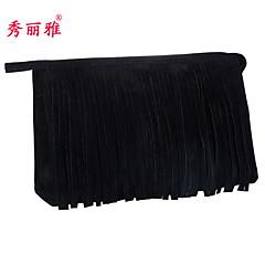 Makeup Storage Cosmetic Bag / Makeup Storage Polyester Tassel Quadrate 23x7x15cm Black / Red / Purple