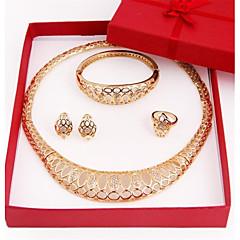 Conjunto de jóias Mulheres Aniversário / Casamento / Noivado / Presente / Festa Conjuntos de Joalharia Liga StrassColares / Braceletes /