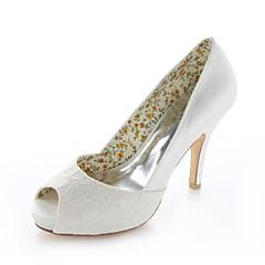 Women's Shoes Stretch Satin Spring / Summer Heels / Peep Toe / Round Toe Wedding / Dress / Party & Evening Stiletto Heel Ivory