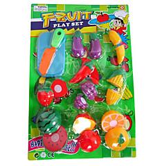 snij fruit / groenten alsof speelgoed play diy speelgoed set