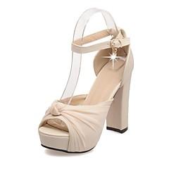 Women's Shoes Customized Materials Chunky Heel Heels Sandals Wedding / Office & Career / Evening / Dress Black