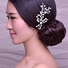 Mujer / Niña de flor Perla / Diamantes Sintéticos Celada-Boda / Ocasión especial Pasador de Pelo 1 Pieza Claro Irregular