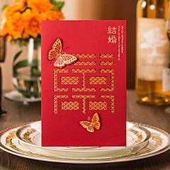 Personalizado Dobra-Portão Convites de casamento Convites para Festas de Noivado / Cartões de convite-50 Peça/Conjunto Estilo Moderno