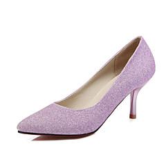 נשים-עקבים-PU-נעלי מועדון-כחול סגול כסוף-חתונה משרד ועבודה שמלה-עקב סטילטו