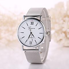 Herren / Damen Modeuhr Quartz Armbanduhren für den Alltag Edelstahl Band Böhmische Silber / Gold Marke-