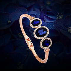 Women's Chain Bracelet Gold / Alloy Rhinestone