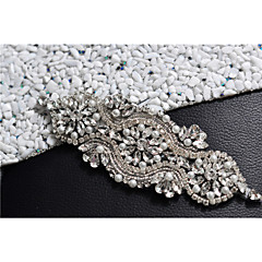 Satin Wedding / Party/ Evening / Dailywear Sash - Beading / Pearls / Crystal / Rhinestone Women's Sashes/Without Ribbons