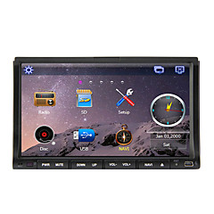 7-inch 2 Din TFT Screen In-Dash Car DVD Player With Bluetooth,Navigation-Ready GPS,iPod-Input,RDS