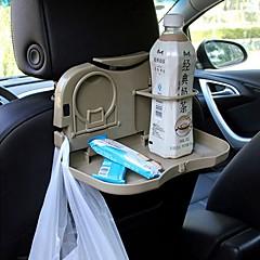 ziqiao bil foldbar ryglænet nakkestøtte multi-funktionelle rejse spisning bakke kopholder / telefonholder