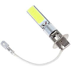 2pcs 12v 80w cob levou carro h3 levou nevoeiro lâmpada do carro lâmpada de alta médios carro lâmpada de farol baixo