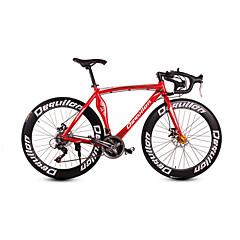 Dequilon aluminum road bike 21/18/16 muscle machete-speed disc brakes 21-speed Sport Red Bright