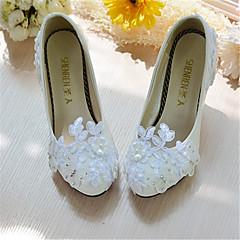 בלרינה\עקבים-נשים-נעלי חתונה-עקבים-חתונה-לבן