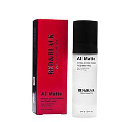 vermelho e invisível poros cartilha rosto matificante base de maquiagem 30ml preto