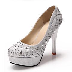 Women's Wedding Shoes Heels / Platform / Round Toe Heels Wedding / Office & Career / Party & Evening / Dress