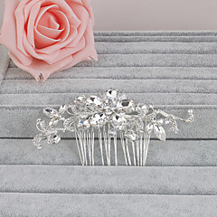 Women's Crystal Headpiece-Wedding / Special Occasion / Casual / Office & Career / Outdoor Hair Combs 1 Piece Clear Oval