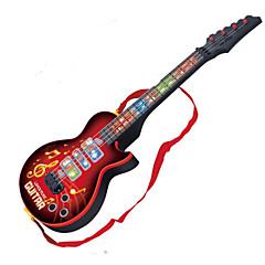 brinquedo guitarra forma de música abs vermelho / preto