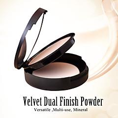 Red&Black Velvet Dual Finish Pressed Powder Nourish Whiten Fixing Makeup 12g