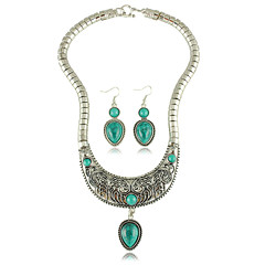 Jewelry Set Women's Anniversary / Wedding / Party / Daily Jewelry Sets Alloy Turquoise Earrings / Necklaces Silver / Blue