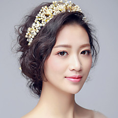 Women's / Flower Girl's Pearl / Rhinestone / Alloy Headpiece-Wedding / Special Occasion Tiaras 1 Piece