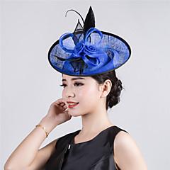 Womens Sinamay Flower Fascinator Wedding Hat