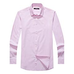 zeven Brand® Heren Overhemdkraag Lange mouw Shirt & Blouse Orange-704A3B5410