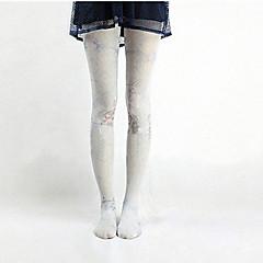 Meias e Meias-Calças Doce Lolita Lolita Rosa / Azul Céu Lolita Acessórios Meias Finas Animal Para Feminino Náilon