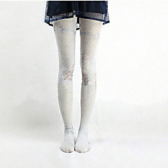 Sokken en kousen Schattig Lolita Lolita Roze / Hemelsblauw Lolita Accessoires Kousen Dierenprint Voor Dames Nylon
