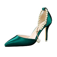 Women's Shoes AmiGirl 2016 New Style Wedding/Party/Dress Green/Black/Red/Silver Sexy Stiletto Heels