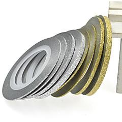 1pcs 2mm 20m nail art goud / zilver glitter streep tape nail art decoratie gereedschappen nc275
