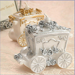 Silver Carriage Candle Favor