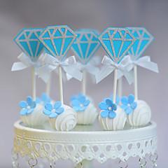קישוטים לעוגה לא מותאם אישית מצחיק ומסויג נייר כרטיס יום שנה / יום הולדת / חתונה קשת כחול נושא חוף / נושא קלאסי 10 OPP