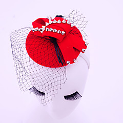 Women's Feather / Alloy / Flannelette / Net Headpiece-Wedding / Special Occasion / Casual / Outdoor Fascinators 1 Piece