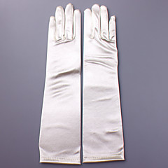 Elbow Length Fingertips Glove Satin Bridal Gloves Party/ Evening Gloves Spring Fall Winter Appliques