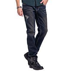 Lesmart Heren Jeans / Recht Broek Zwart Fade / Bruin / Zilver / Grijs - DX13193