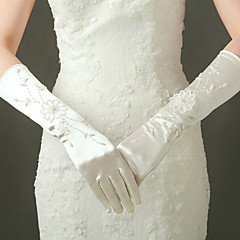 Elbow Length Fingertips Glove Satin / Elastic Satin Bridal Gloves / Party/ Evening Gloves