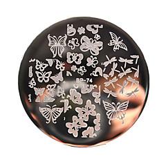 diverse fluture de unghii placa de arta ambutisare imagine șablon nașterii bp74 destul