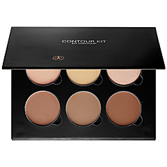 Cosmetics Contour and Highlighting Powder Foundation Palette / Contouring Makeup Kit; Easy-to-Follow